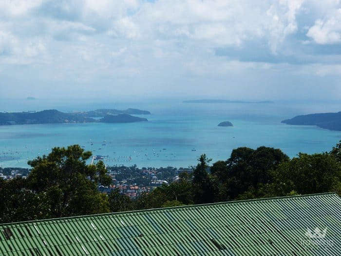View point from Big Buddha on the top of Nakkerd Hill