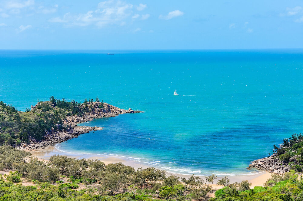 Close view of Florence Bay in Magnetic Island Queensland Australia