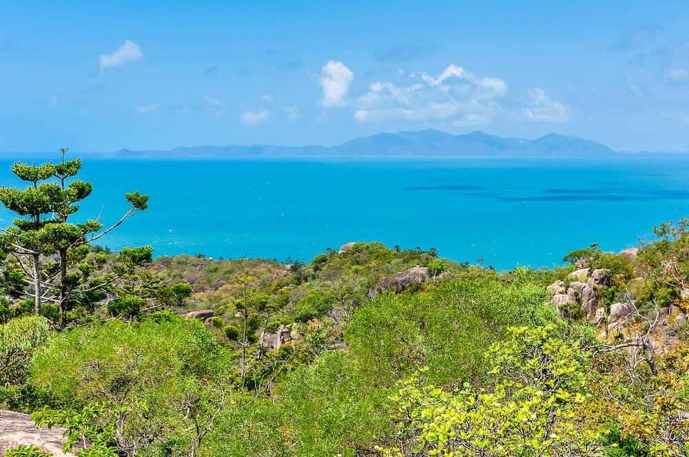 Florest and ocean in Magnetic Island Queensland Australia