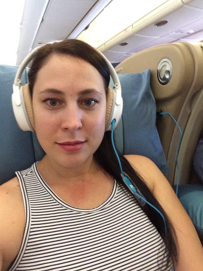 Bose headphone on the plane