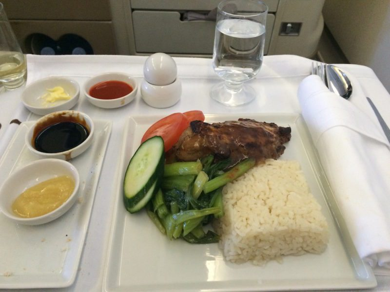 Food goodies via Business Class on Singapore Airlines Adelaide to Beijing via Singapore