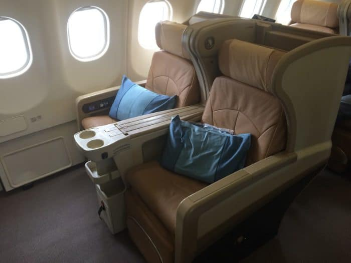 Business Class seats for Singapore Airlines Adelaide to Beijing via Singapore