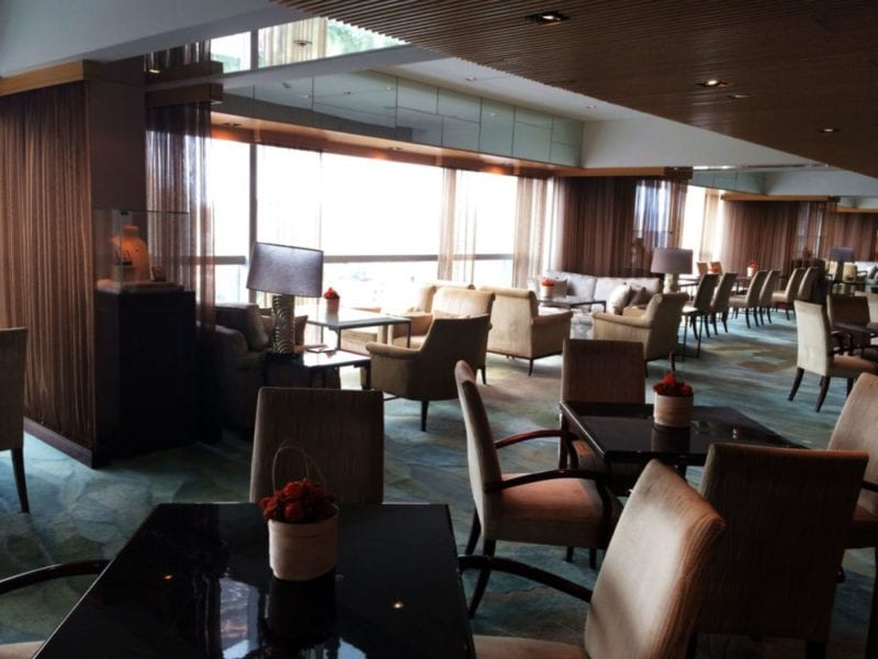 Valley Wing club lounge at the Shangri-La Beijing
