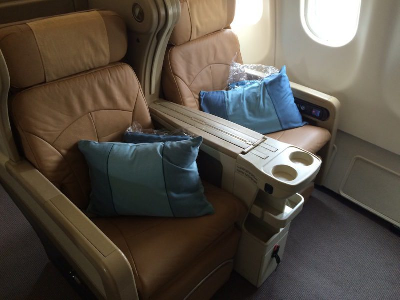 Business Class Seats on Singapore Airlines - Guangzhou to Singapore