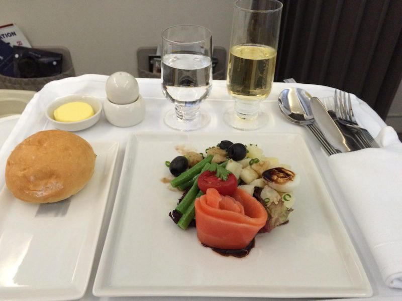 Food in Business Class on Singapore Airlines - Guangzhou to Singapore