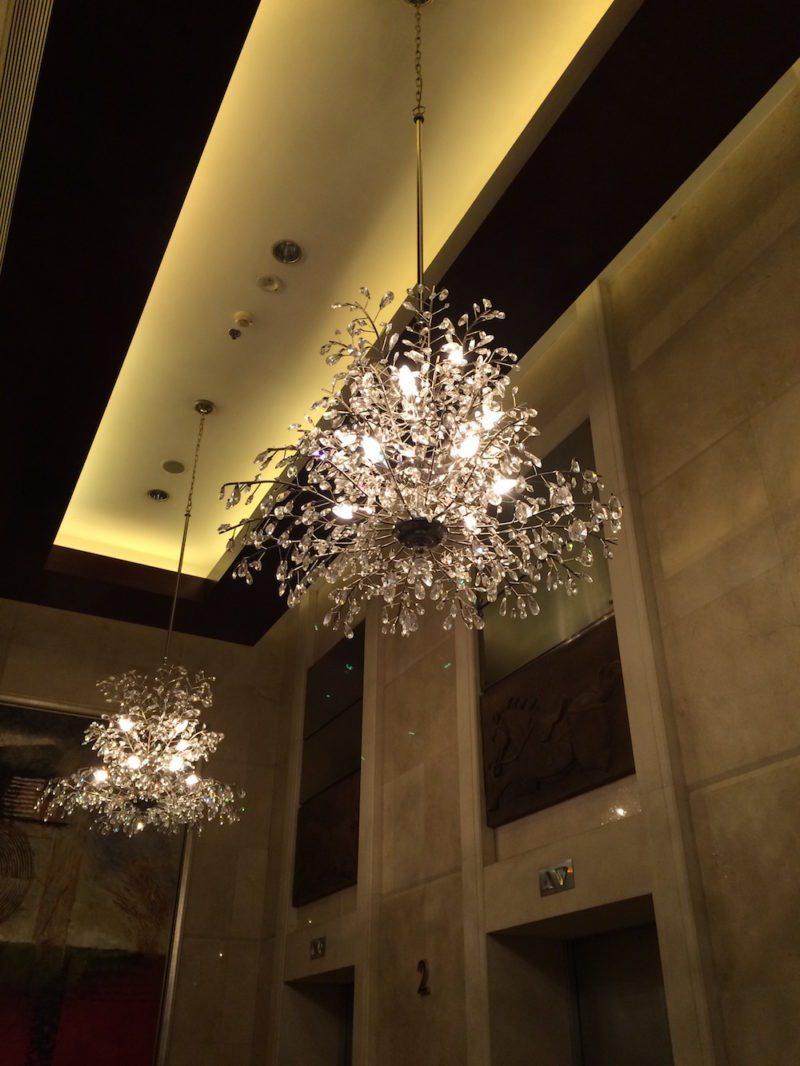 chandeliers at the Shangri-La Xian