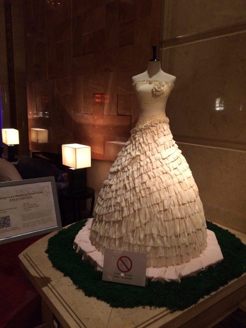 Wedding dress made out of cake!