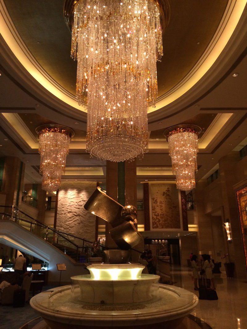 chandeliers at the Shangri-La Guangzhou