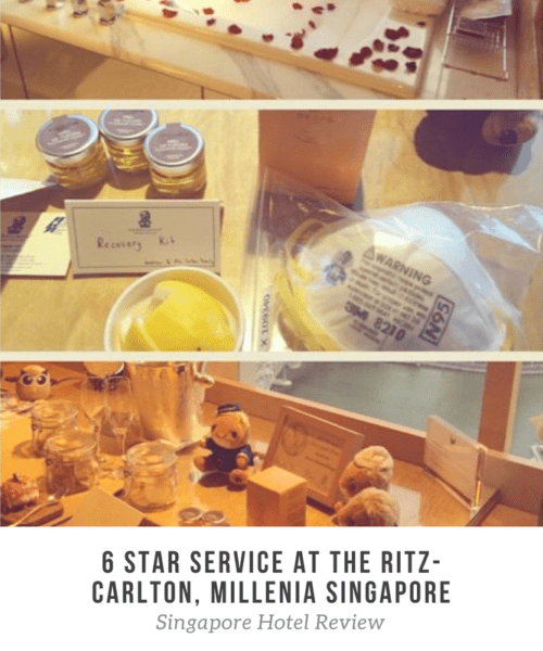 6 Star Service in Singapore at The Ritz-Carlton, Millenia Singapore