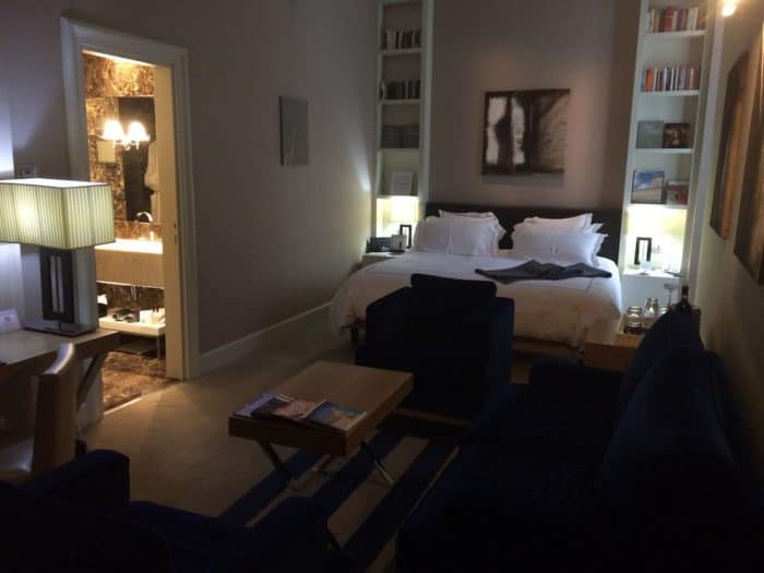 the Junior Suite at THE FIRST Luxury Art hotel Rome
