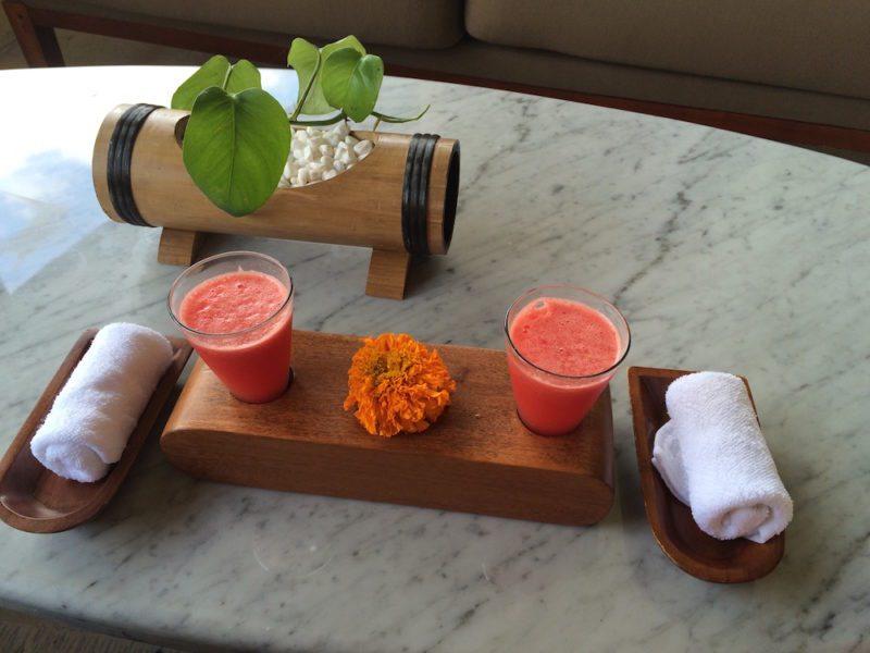 Welcome drinks at Four Seasons Resort Bali at Sayan