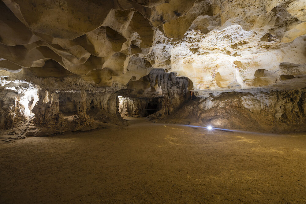 Inside a limestone cave in the Naracoorte Caves National Park in South Australia