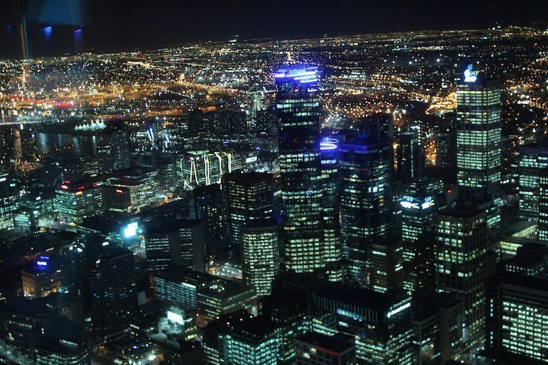 Melbourne Skydeck at Night