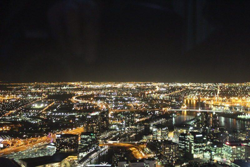 Melbourne Skydeck at Night