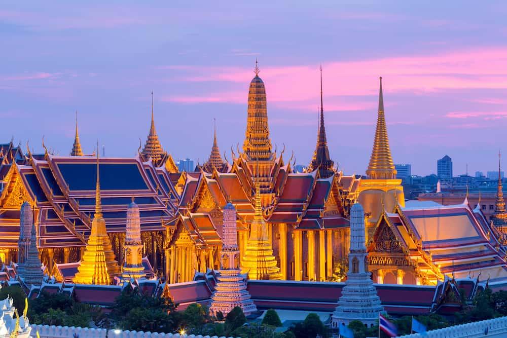 Bangkok temple of the emerald Buddha and Grand Palace in Bangkok Thailand