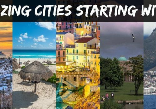 Amazing cities starting with C