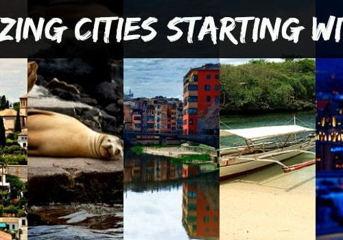 Amazing cities starting with G