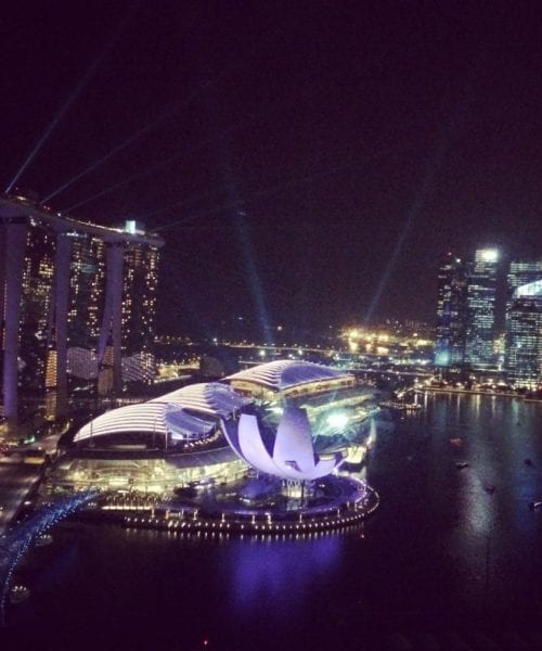 Singapore Marina Bay Sands View Light Show