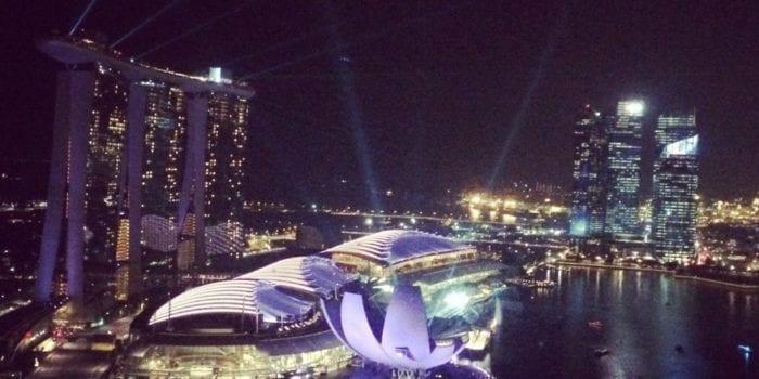 Singapore Marina Bay Sands View Light Show