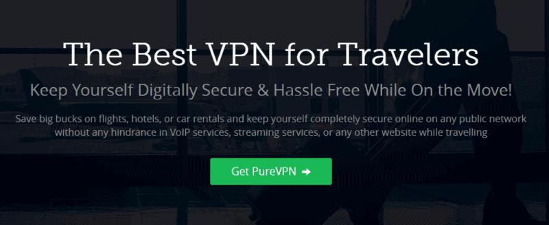 purevpn best vpn for travelers