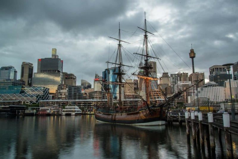 darling harbour sail boat