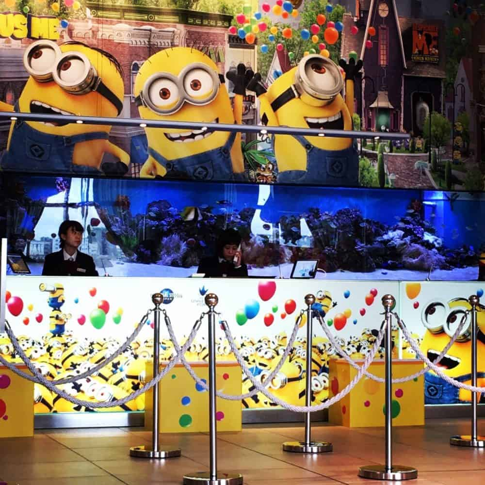 Hotel Universal Port (This hotel offers Minion featured rooms!)