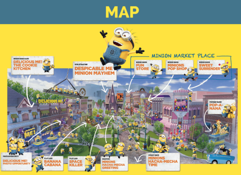 Minion Park Map Universal Studio Japan