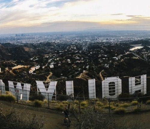 hollywood sign and view