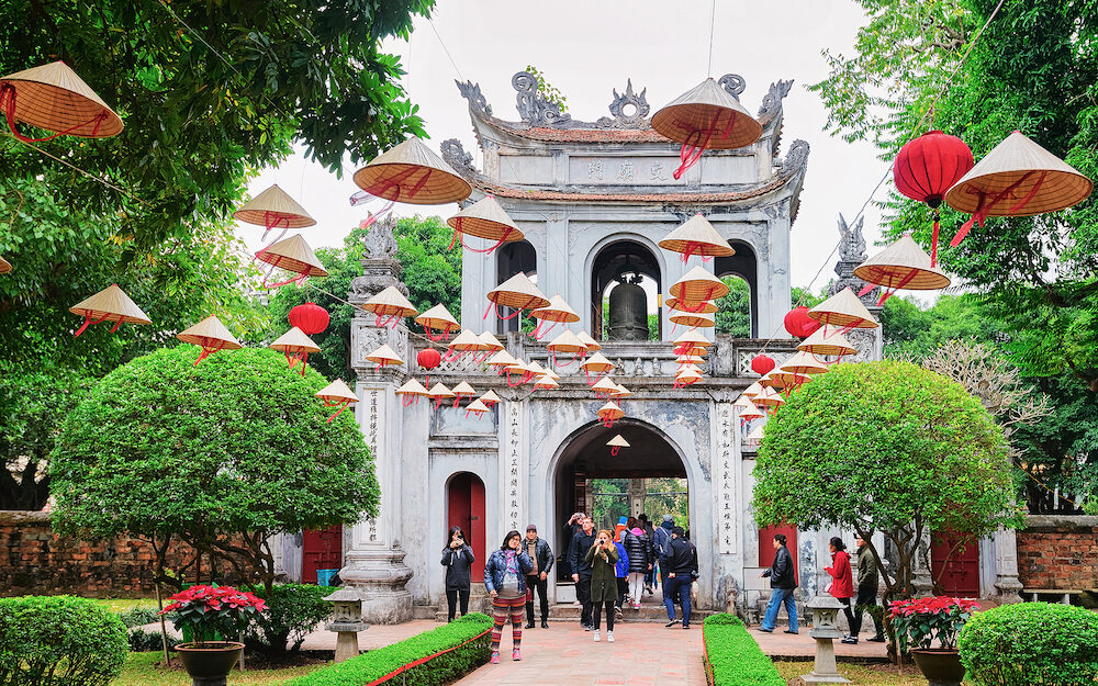 Hanoi, Vietnam - Courtyard of Temple of Literature in Hanoi, Vietnam
