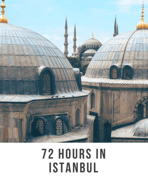 72 hours in Istanbul. Istanbul is a wonderful mix of Mediterranean-style culture (think great food, pavement eating, long meals) combined with Central Asian/Middle East influence. It is a transcontinental city as it straddles the Bosphorus strait which separates Europe and Asia.