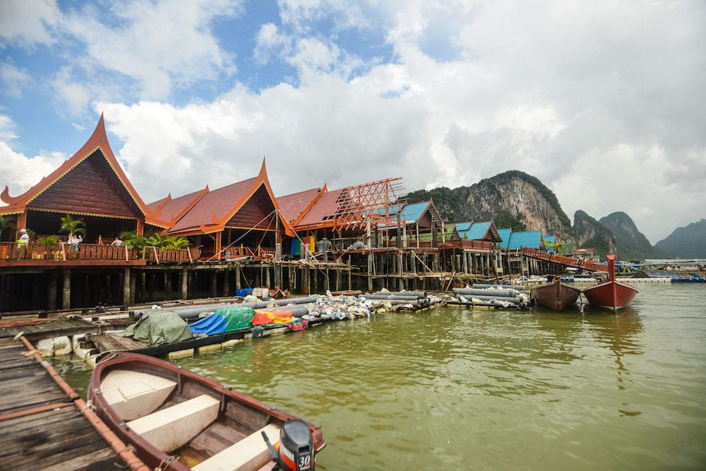 Canoeing at Koh Hong IslandPhang-Nga, Thailand Thailand : Koh Panyee settlement built on stilts of Phang Nga Bay, Thailand, Andaman Sea.