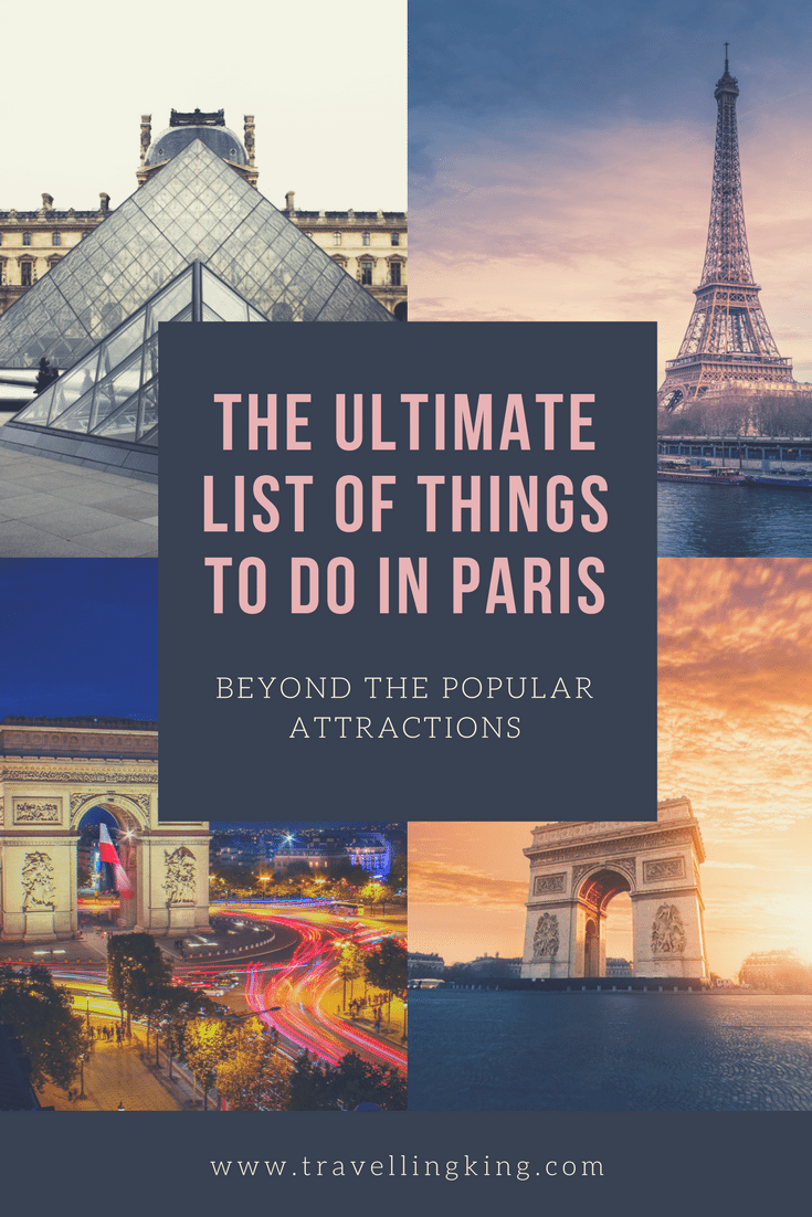 The Ultimate List of Things to do in Paris - Beyond the Popular Attractions. When you think about the icons of Europe, what comes to mind? There's a good chance that the Eiffel Tower, Notre Dame or a scene along the Champs-Elysee are some of the images that pop up. These famous attractions should be at the top of every Paris bucket list, but there are so many more things to do in Paris beyond these popular attractions as well as someunusual things to do in Paris.