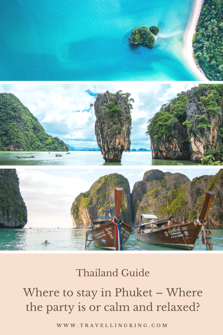 "Where to stay in Phuket – Where the party is or calm and relaxed? The Best Places to Stay in Phuket! This article is designed to help YOU work out where are the best places to stay in Phuket for you and what are the different areas like in Phuket. Maybe you want to stay in party central (Patong), or something more relaxed and calming (Rawaii or Nai Yang) with the option to go to those ""party areas"" or busy market streets. Or you might want to know which is the best area to stay in Phuket with your family."