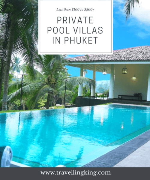 Private Pool Villas in Phuket from Budget (less than $100) to Luxury Villas (more than $500). We found that there were some surprisinglycheap villas in Phuket and obviously some pretty expensive pool villas as well, i think the most expensive we found was $25,000 for 1 night! Stick with us and we will guide you through the cheapestprivate pool villas Phuket.