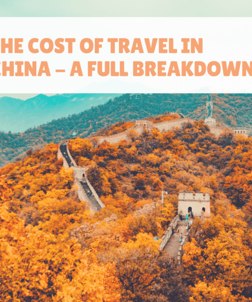 The Cost of Travel in China