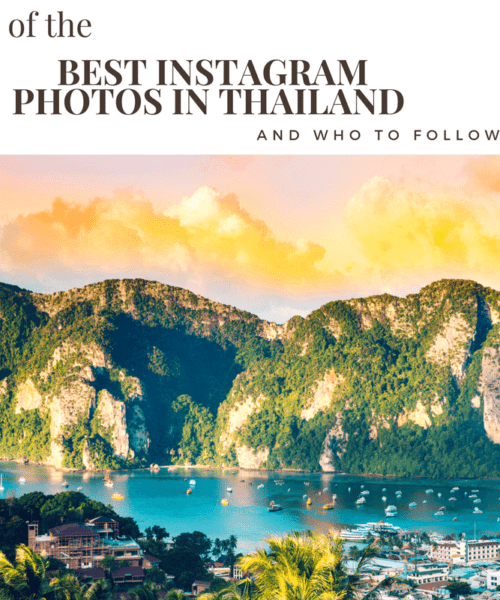 13 of the Best Instagram photos in Thailand & who to follow!