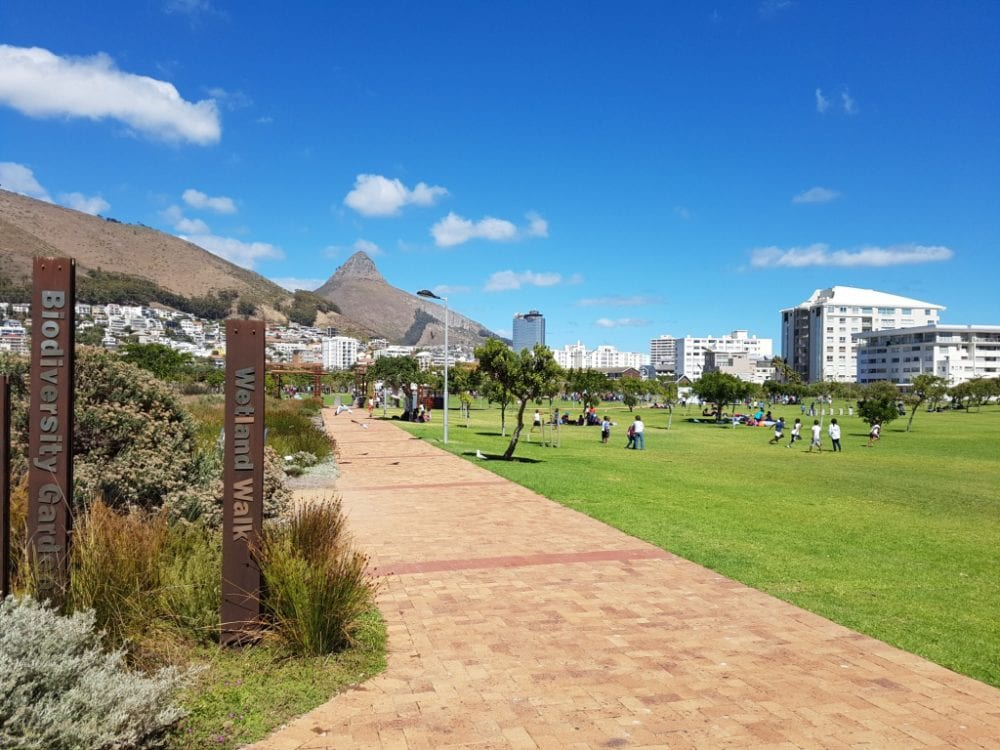 Greenpoint Urban park with Lions head
