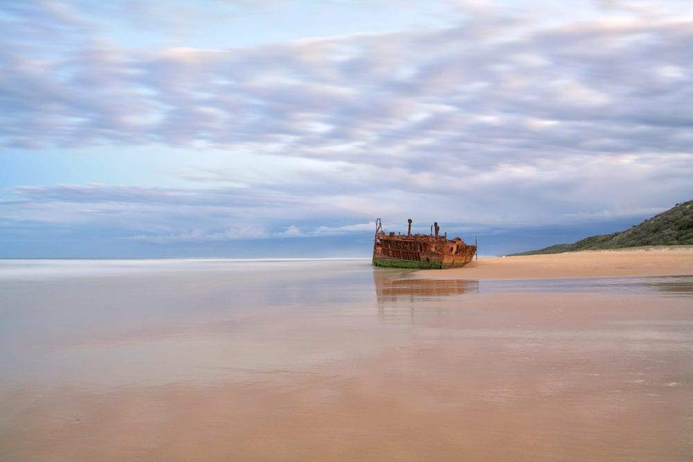 The Maheno shipwreck on Fraser Island's 75 mile beach
