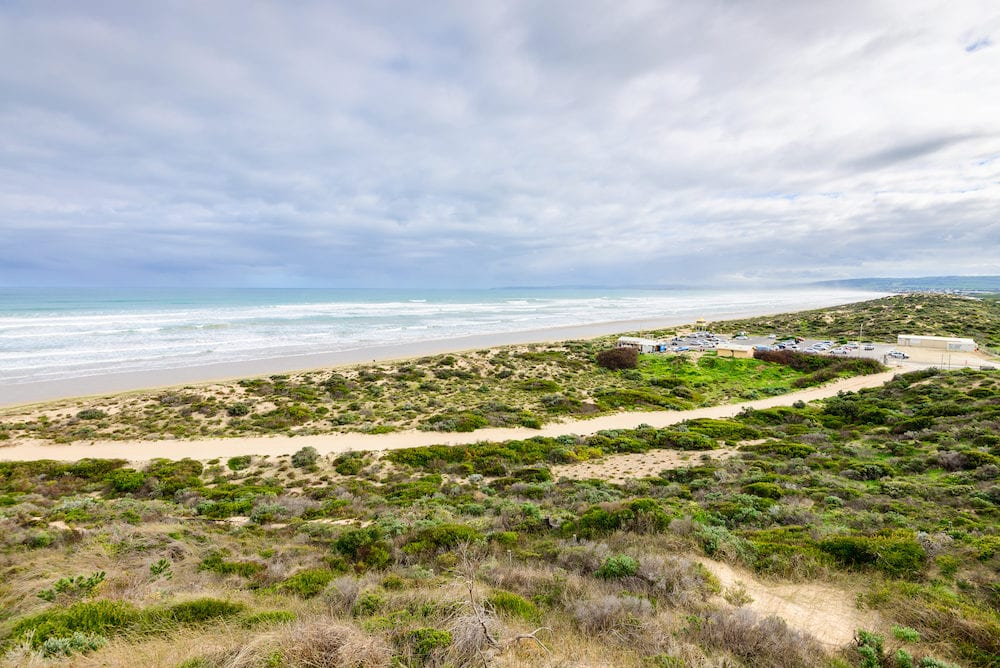 Picturesque view at Goolwa beach South Australia