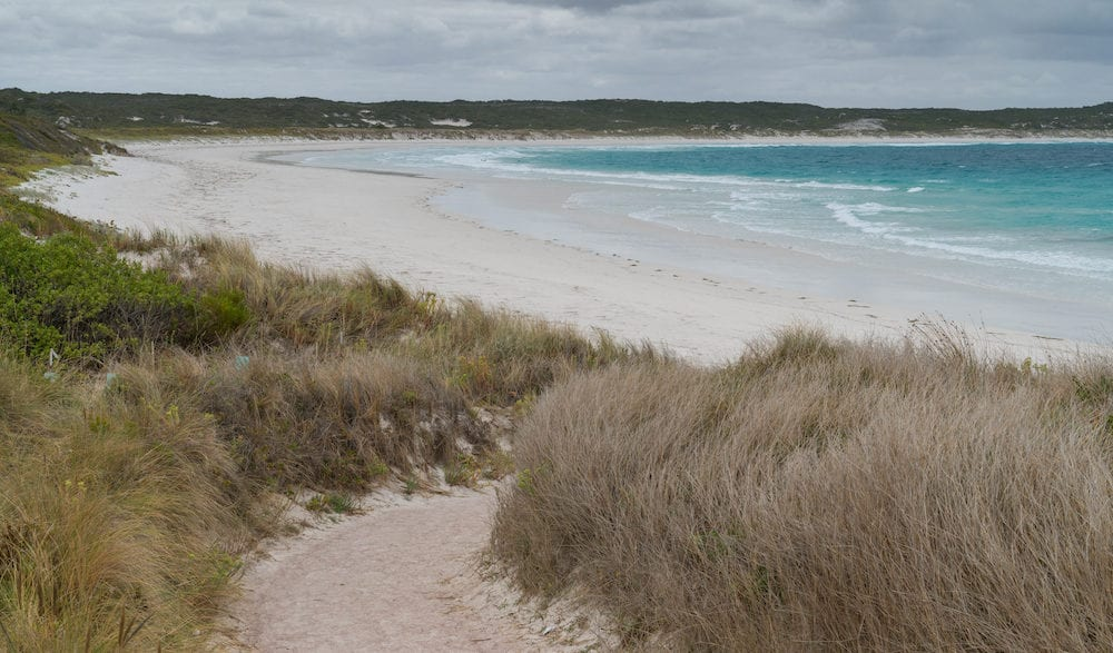 Twilight Beach close to Esperance on an overcast day, Western Australia