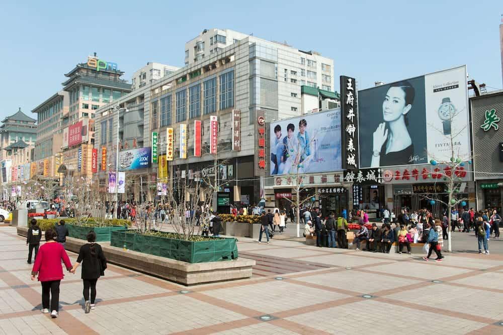 Beijing, CHINA -: Wangfujing street is a famous shopping street in Beijing, China