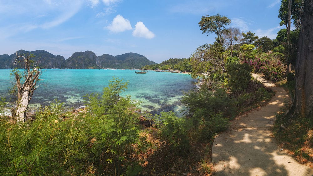 Laem Hin Beach and Ton Sai Bay in Phi Phi Don Island, Krabi Province, Thailand