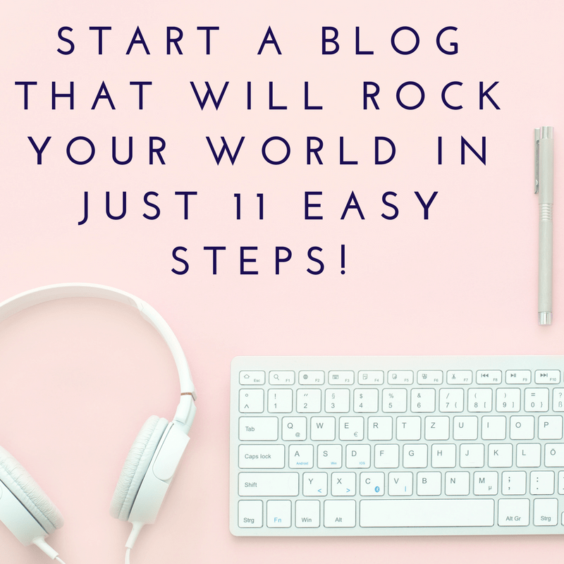 Start a Blog that will Rock your World in just 11 Easy Steps! Starting a blog is a great way to let your creative side out, it's also a great way to make a secondary income. This guide is an introduction covering all the general basics and handy links one needs to know to easily set up a blog of their own.