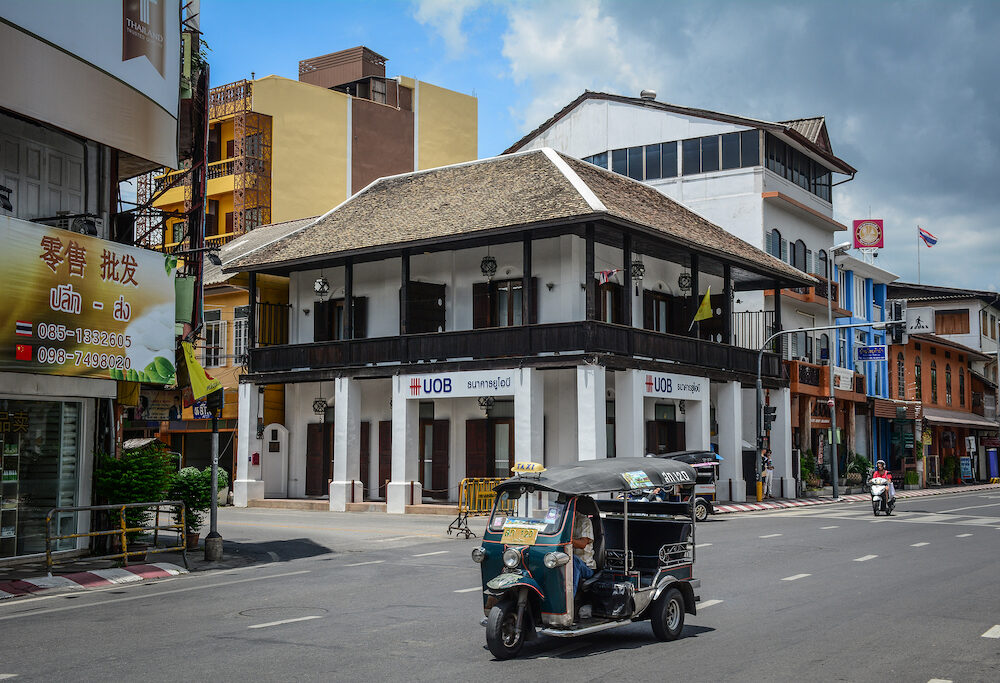 Chiang Mai, Thailand - Old buildings in Chiang Mai, Thailand. Chiang Mai (Chiengmai) is the largest city in Northern Thailand.