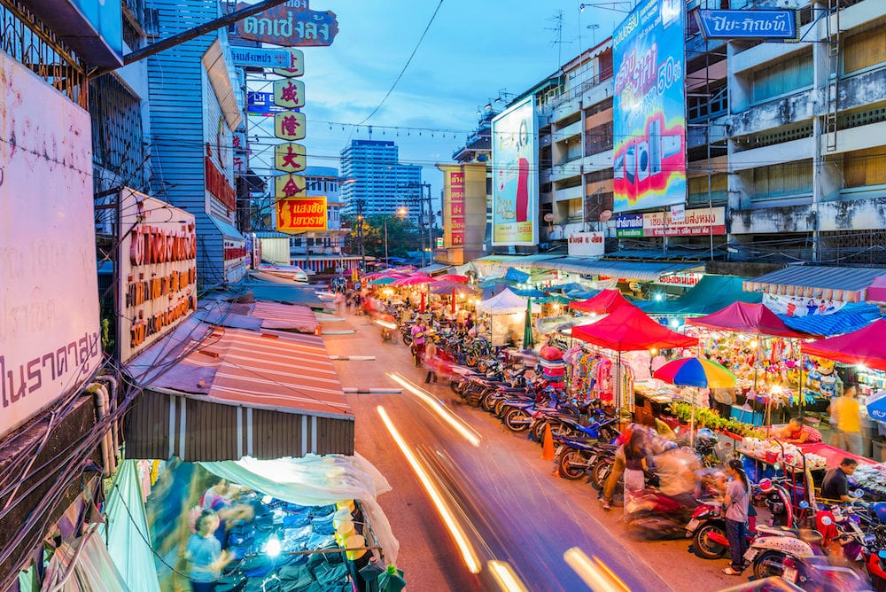 CHIANG MAI THAILAND - This is a traditional night market in the downtown area of Chiang mai in Chiang Mai