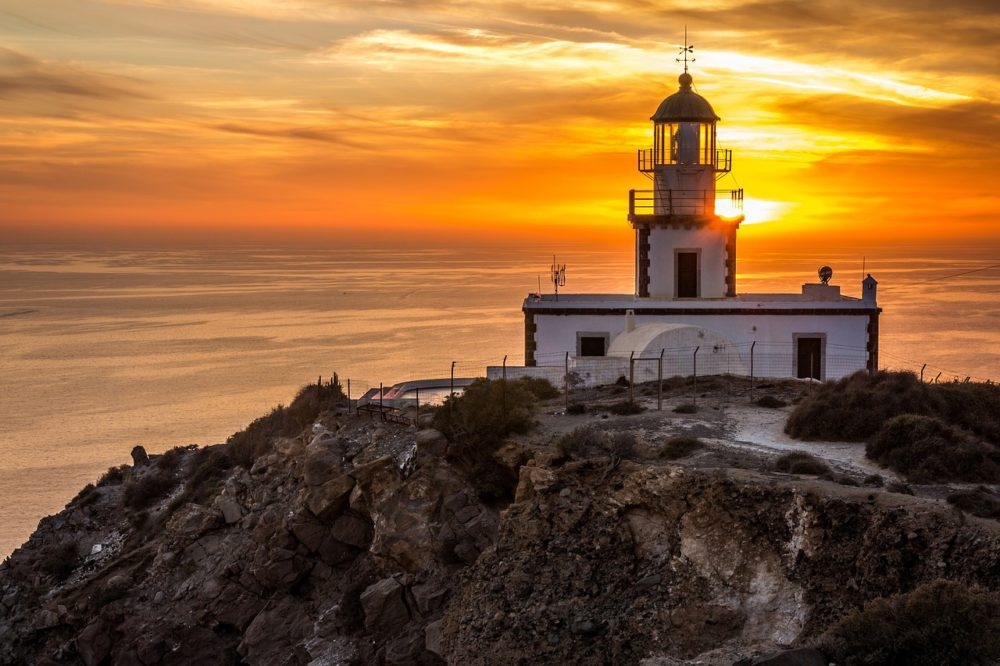 santorini akrotiri lighthouse - 16 Astonishing Things to do in Santorini - Greece Travel Guide