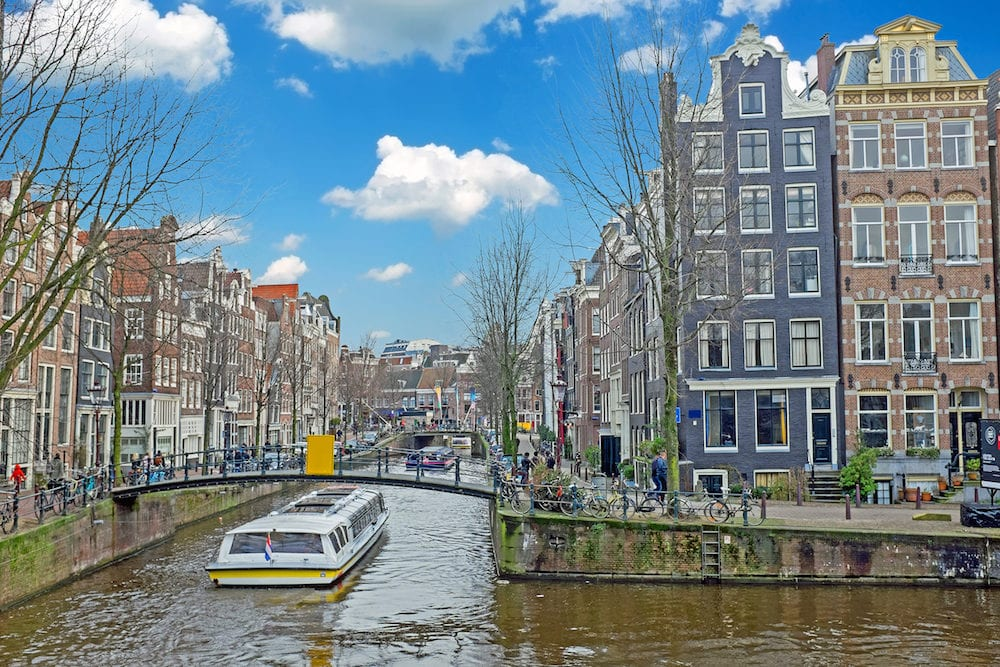 Amsterdam in the Jordaan in the Netherlands