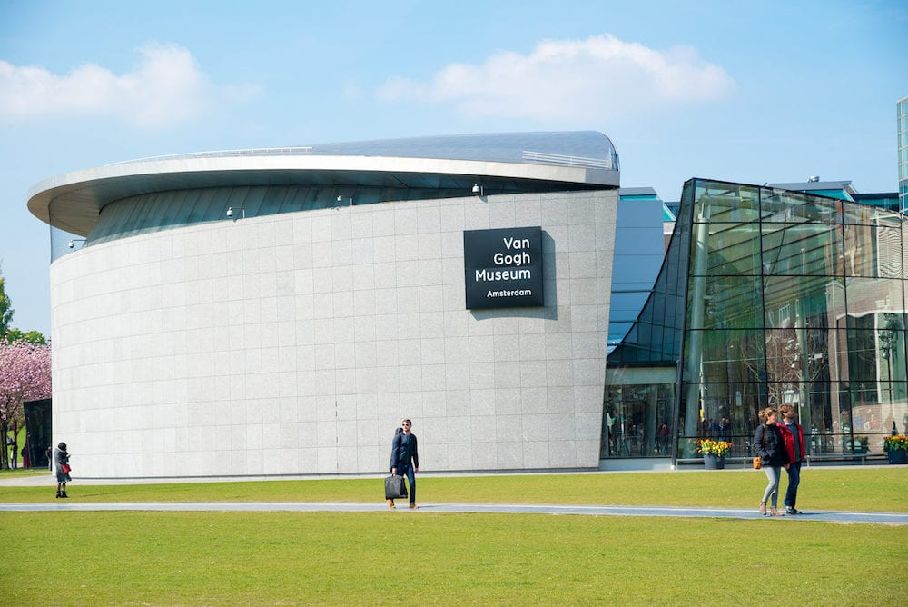 Amsterdam, Netherlands - Van Gogh museum building outstanding with design architecture in Amsterdam, Netherlands