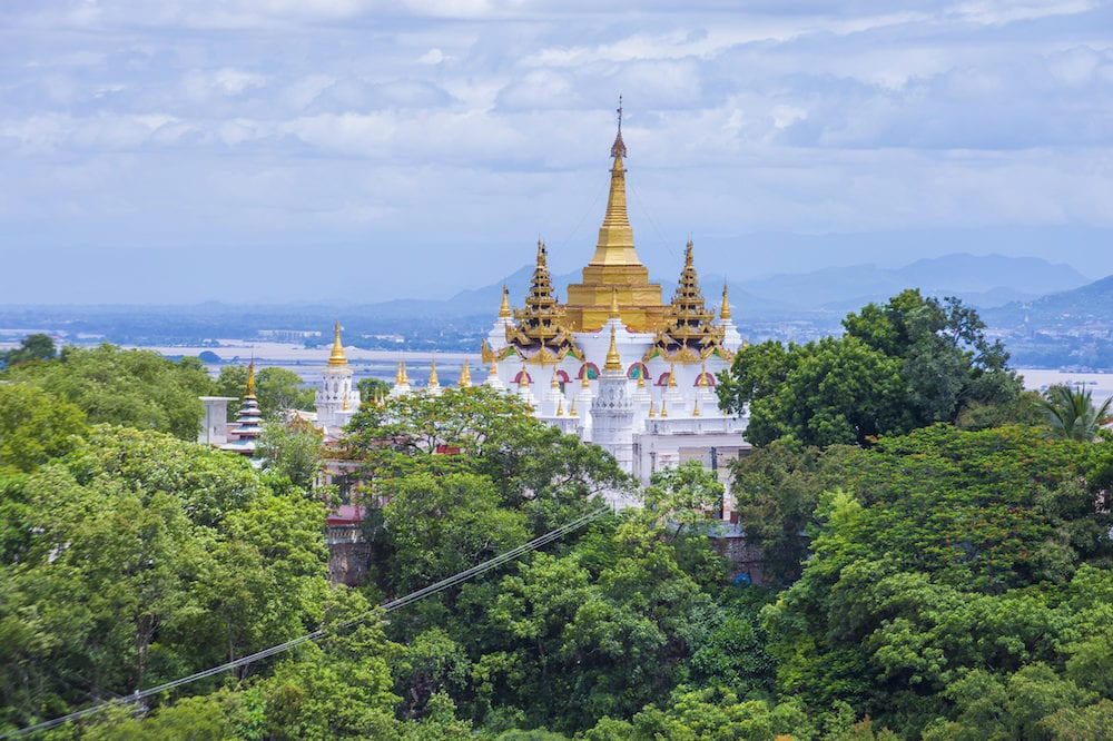 SAGAING MYANMAR - Sagaing hill Pagoda in Myanmar Sagaing hill Pagoda is a Buddhist temple and major pilgrimage site 20 km to the south-west of Mandalay