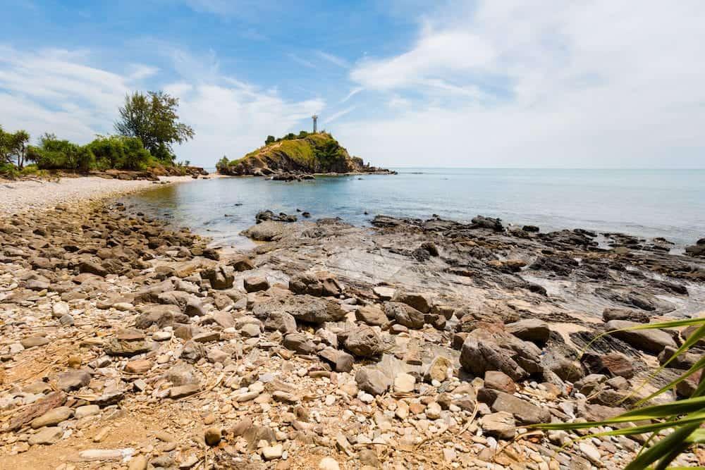 Summer seascape on tropical koh Lanta island in Thailand. Landscape taken in koh Lanta Yai National Park.